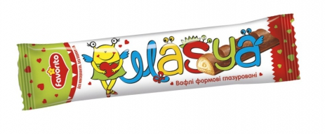 Wafers moulded glazed «Magic day» (milky filling)